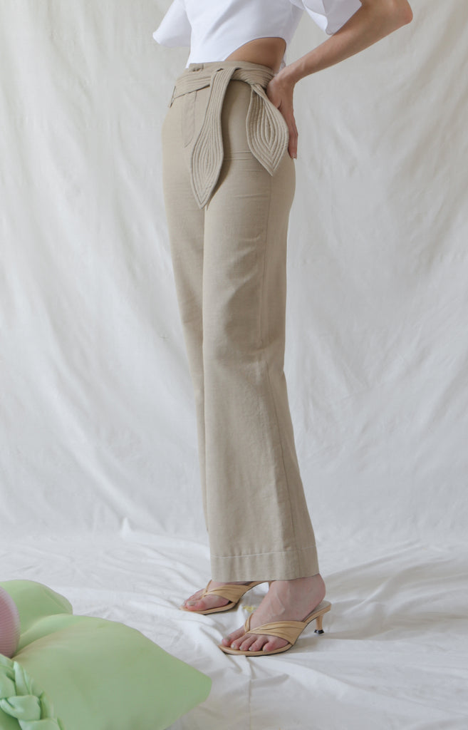Anja Long Trouser in Linen