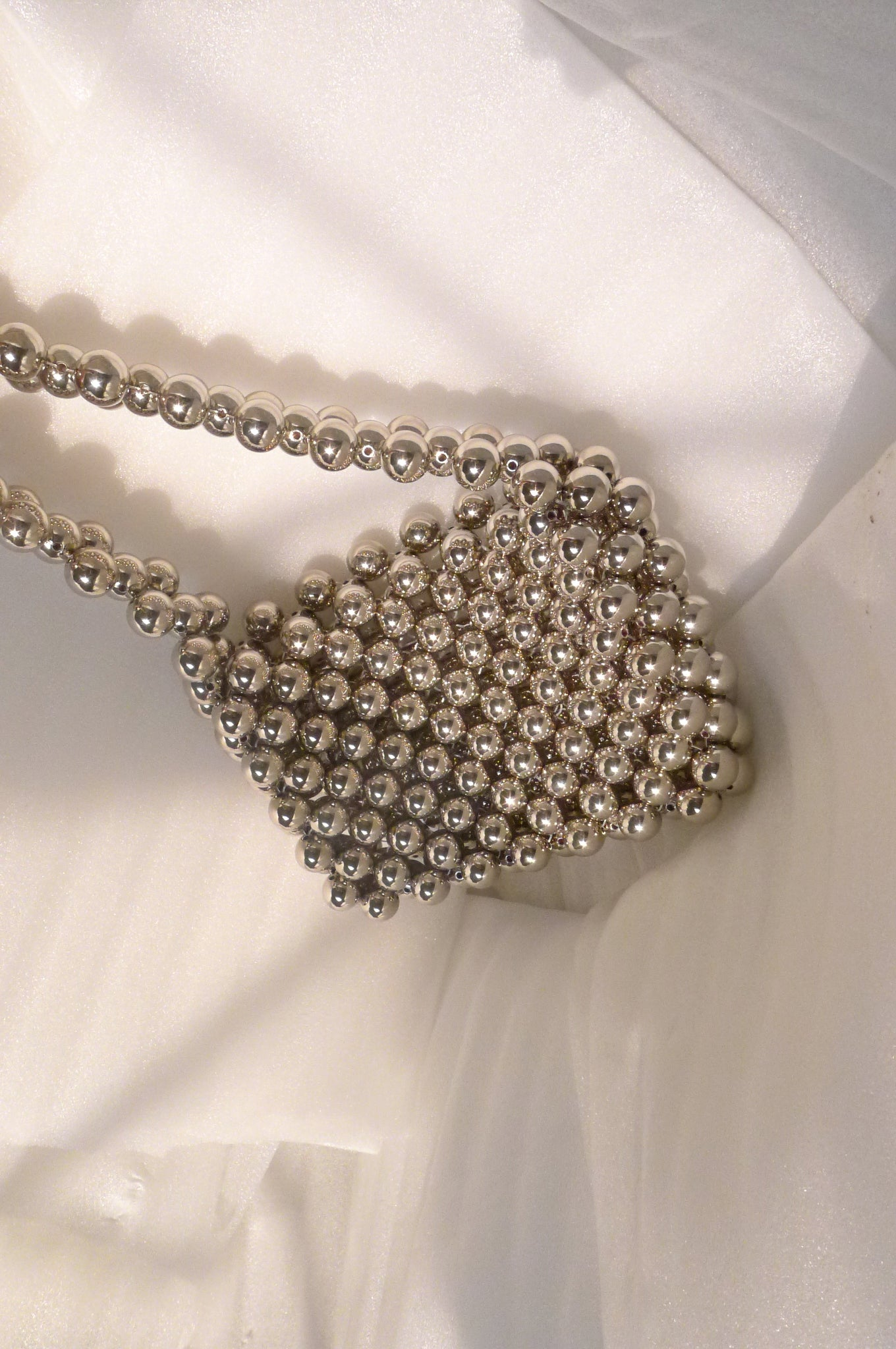 Mia Silver Bead Bag