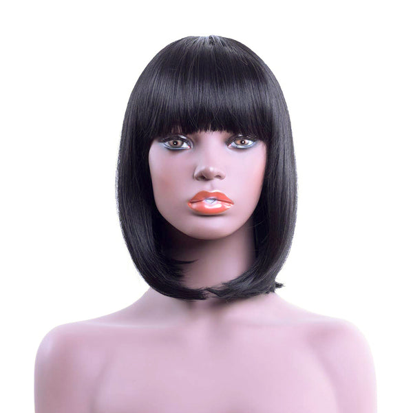 Lace Front Wigs - Short Bob with bangs