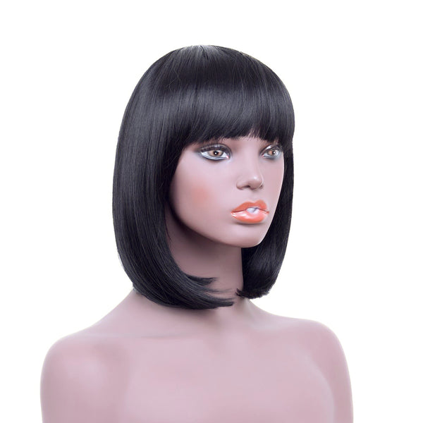 Lace Front Wigs - Short Bob with bangs - NaturalTrue Hair