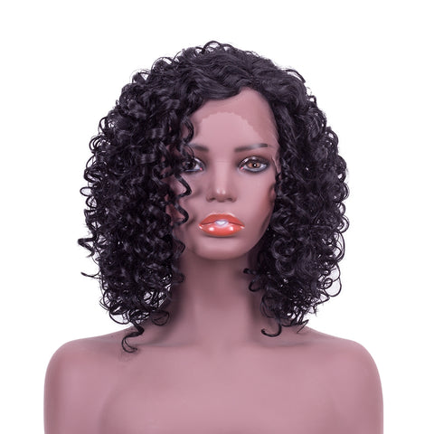 Lace Front Wigs - Short Kinky Curls - NaturalTrue Hair