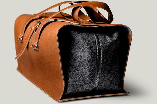 leather travel bag classic brown