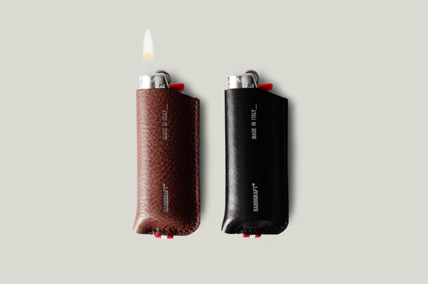 BIC Lighter Cover Duet . Chestnut / Black