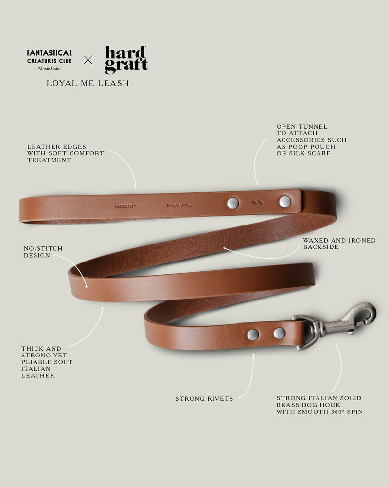 FCC x HG Loyal Me Leather Leash . Classic