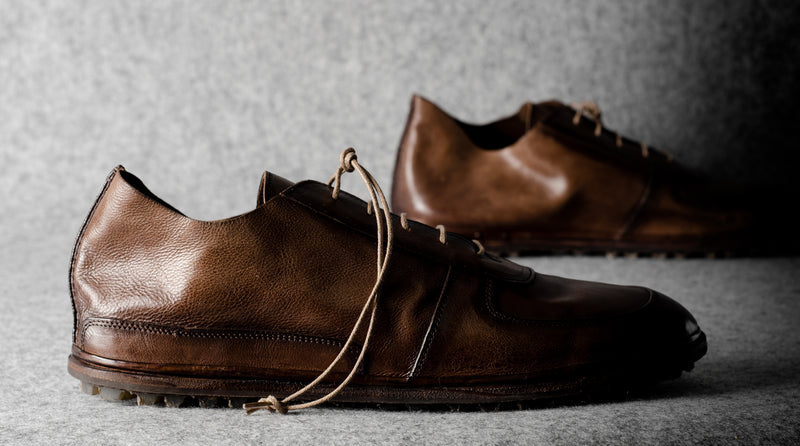 Pure Leather Shoes . Chestnut
