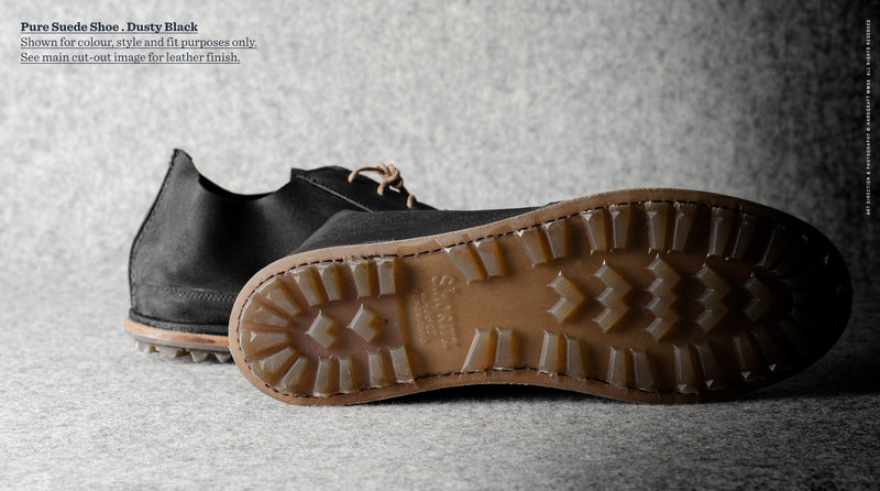 Pure Leather Shoes . Tire Black