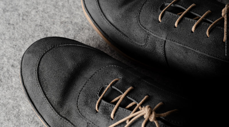 Pure Suede Shoes . Dusty Black