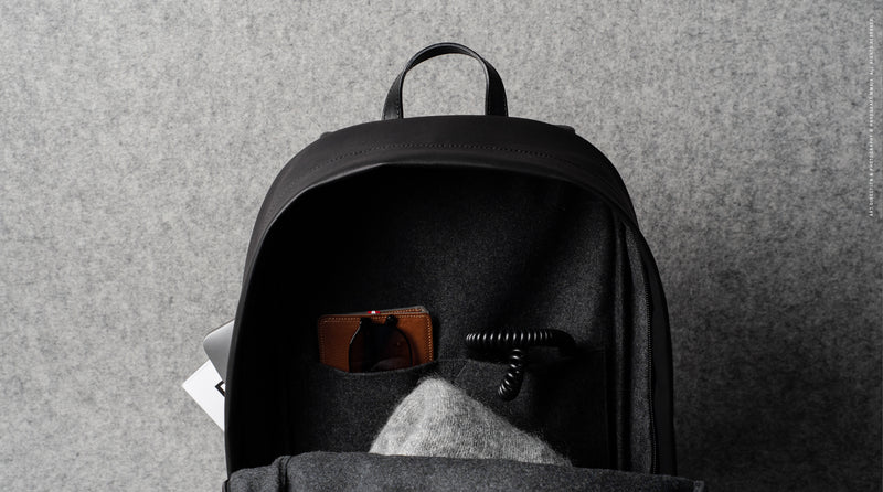 Well-Rounded Backpack . Black Coated