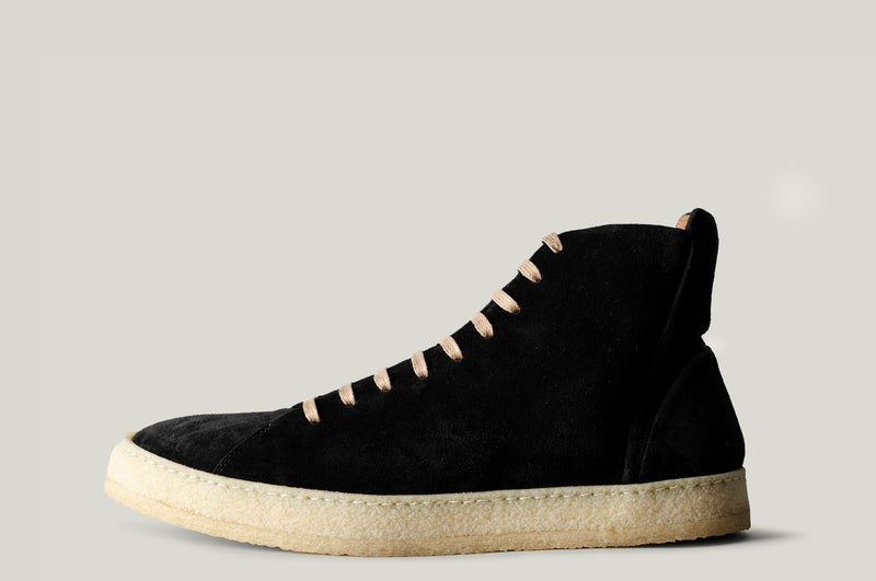 baseball boot black suede