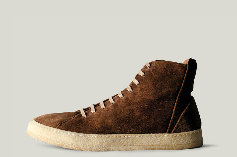 baseball boot brown suede