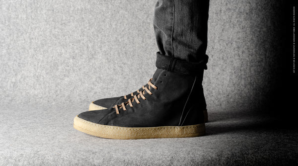 Baseball High Top .  Dusty Black