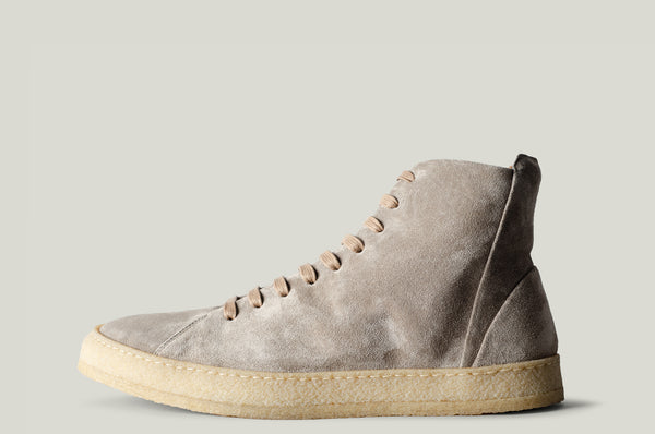 baseball boot grey suede