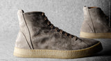 Baseball High Top .  Grey Suede