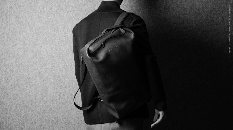 Belted Backpack . Off Grey