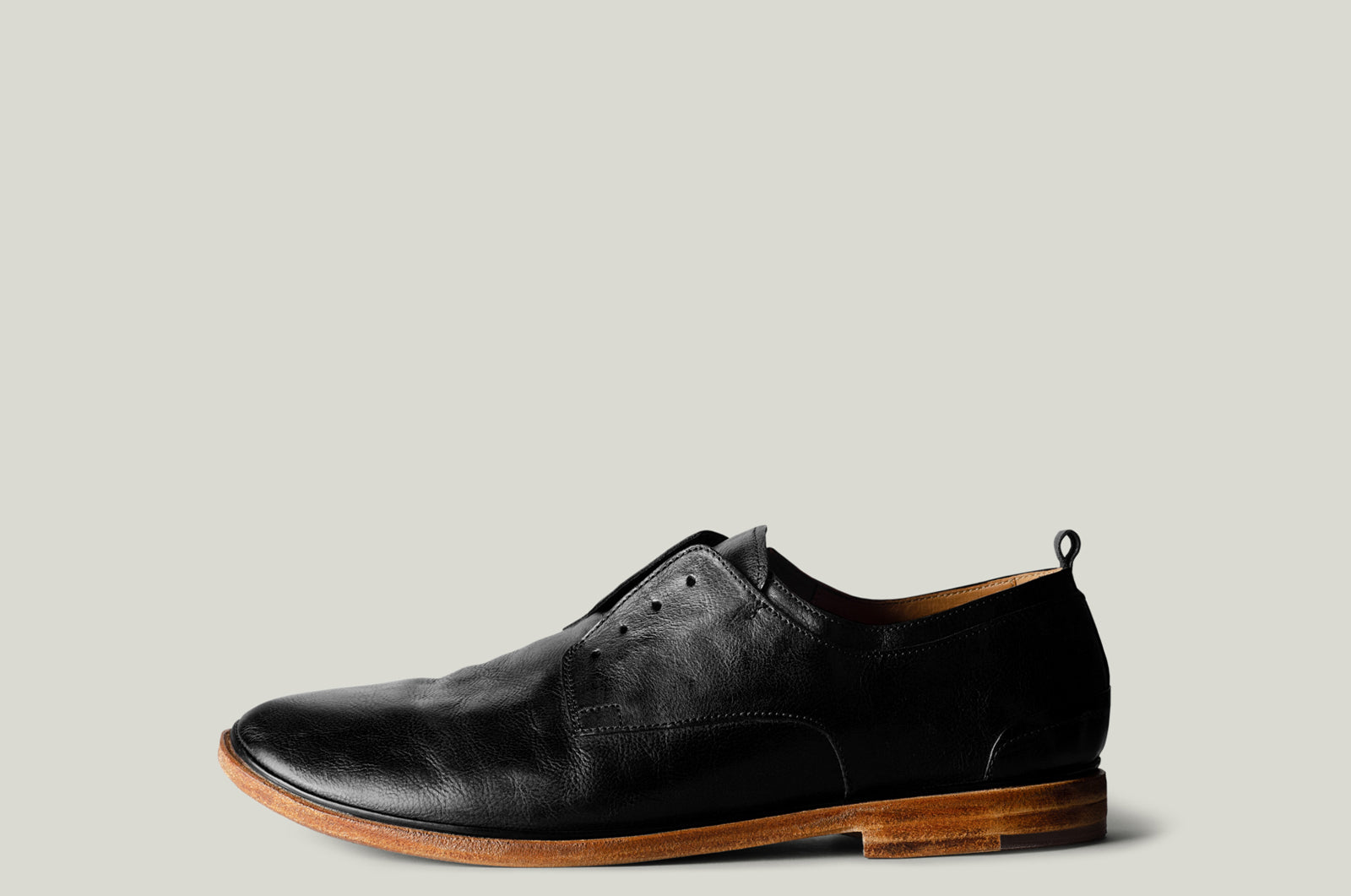 Open Derby Shoes . Black