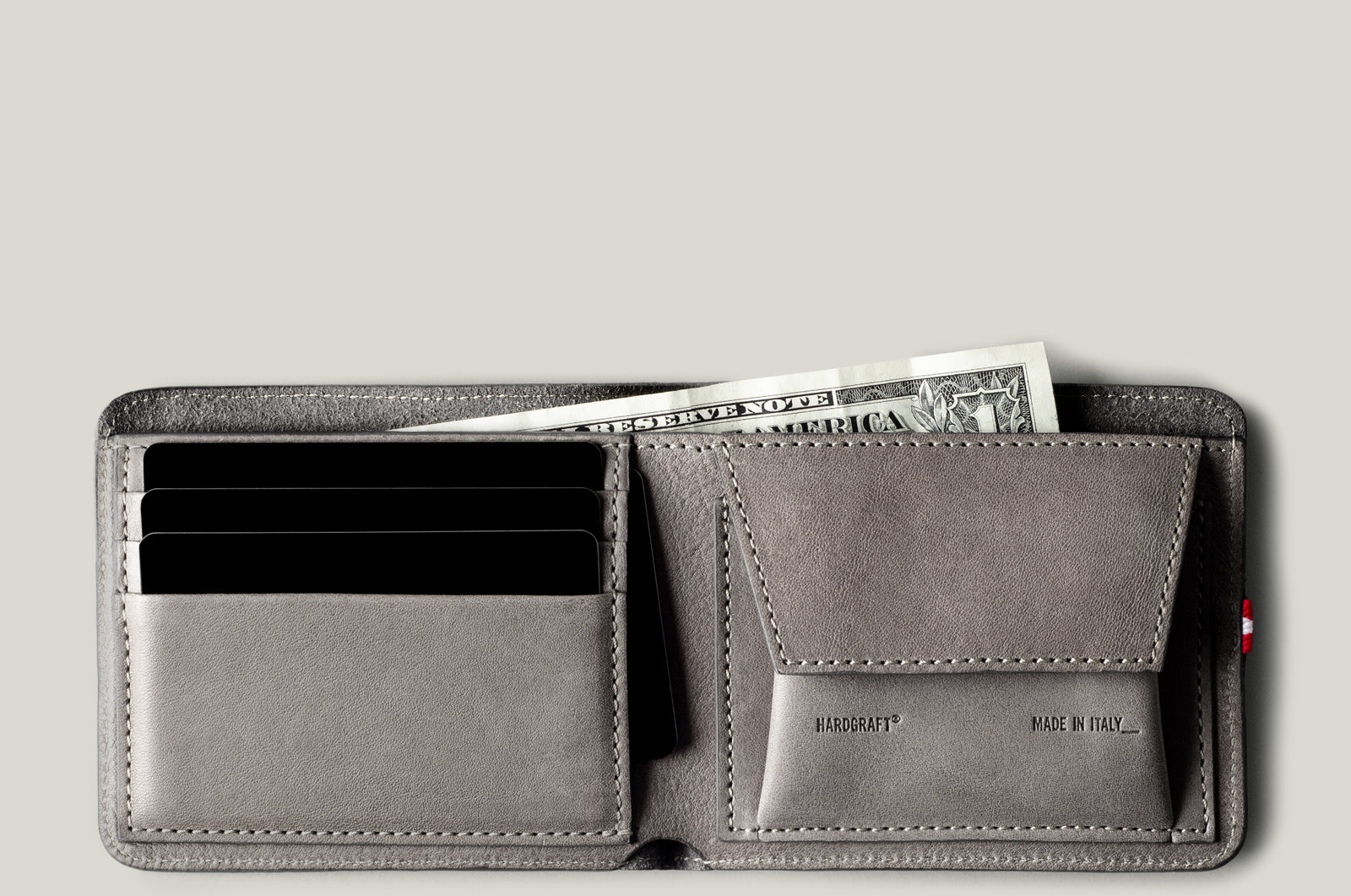 24e7498e1 Cash Card Coin Wallet . Off Grey – hardgraft