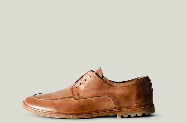 casual derby shoes brown leather