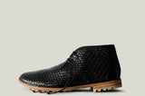 Chukka Boots black woven leather