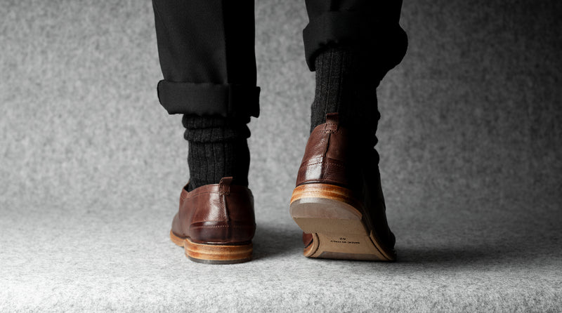 Open Derby Shoes . Chestnut Brown