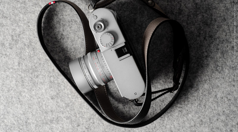 Duotone Camera Strap . Off Grey
