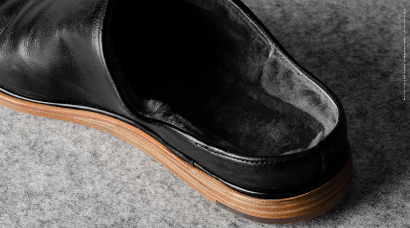In & Out Slip Ons . Black