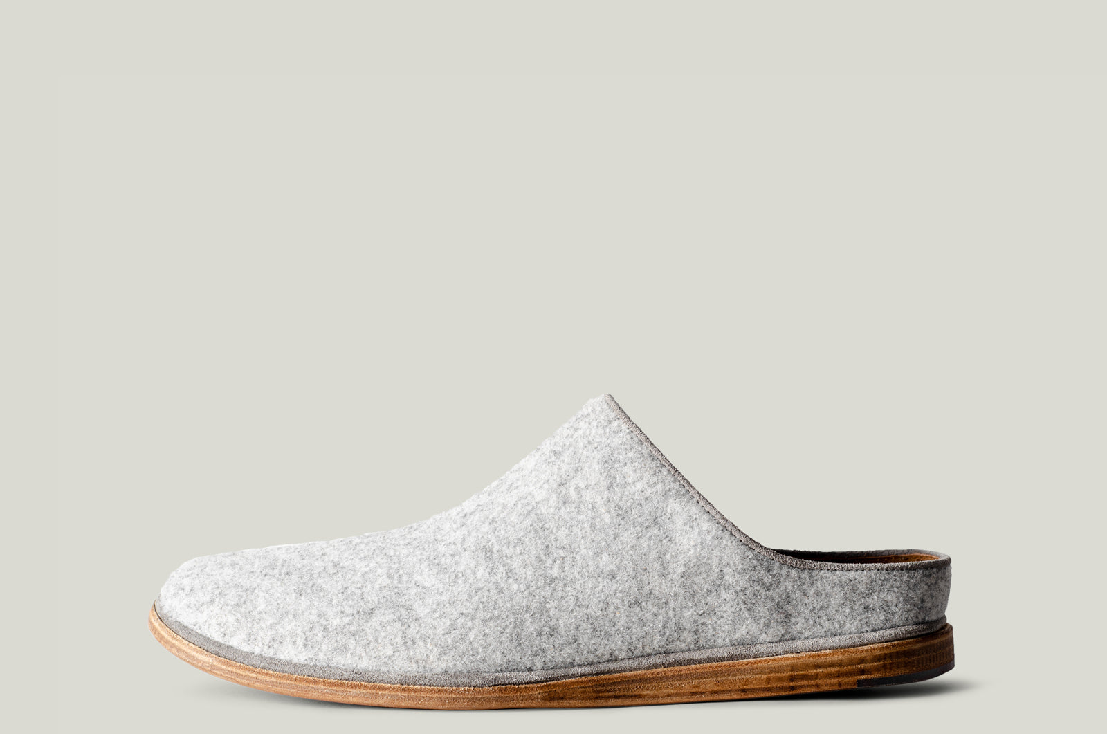 In & Out Wool Slip Ons . Light Grey