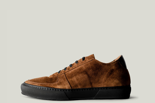 Low Top Sneaker Brown Suede