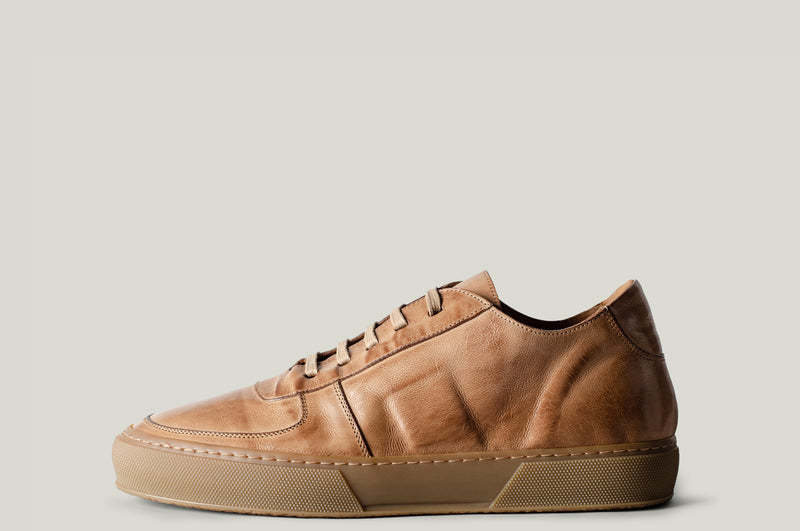 Low Top Sneaker Sand Leather