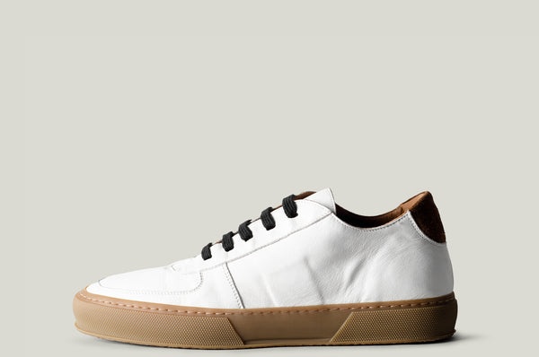 Low Top Sneaker White Leather