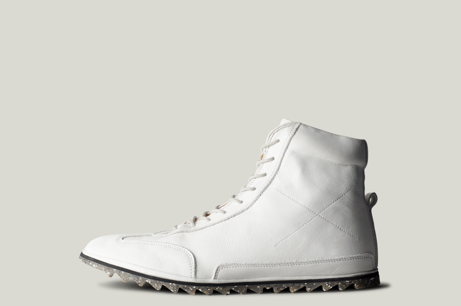 Old School High Top Sneakers . Chalk White