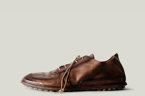 Pure leather shoes chestnut