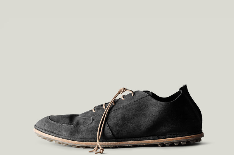 Pure Suede Shoe Dusty Black