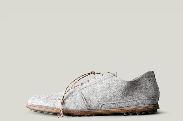 Pure Wool Shoes . Light Grey Melange