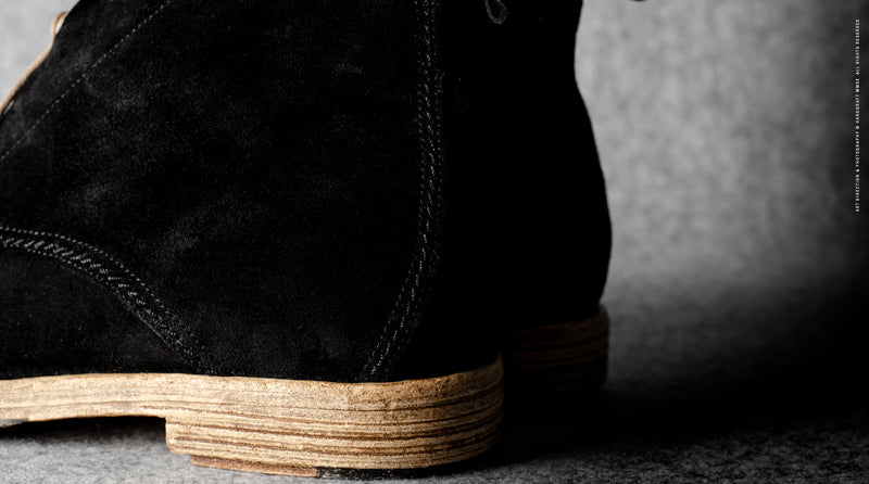 Rugged Boots . Black Suede