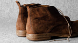 Rugged Boots . Chestnut Suede