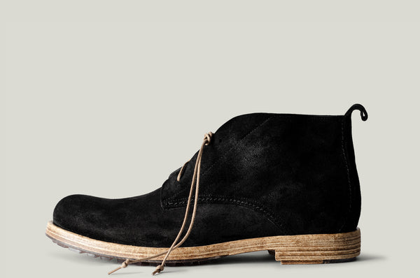 Rugged Boots Black Suede