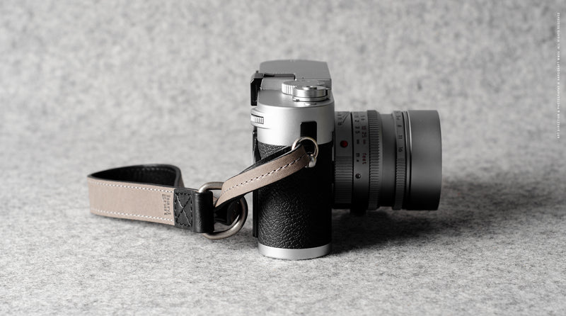 Slide Camera Wrist Strap . Off Grey