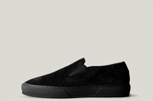 Slip On Sneaker Black Suede