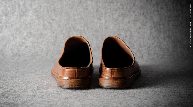 In & Out Slip Ons. Klassisches Leder