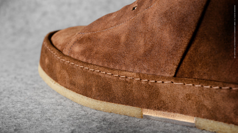 Straight Sided Mid-Top . Chestnut Suede