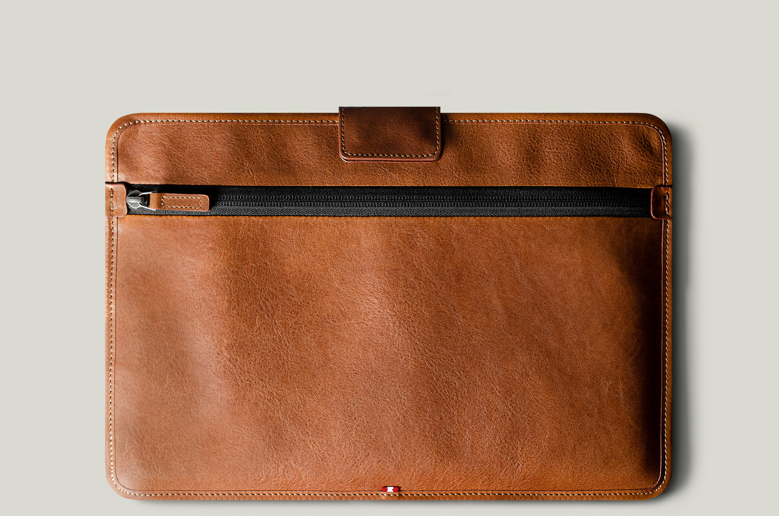 brown leather macbook sleeve