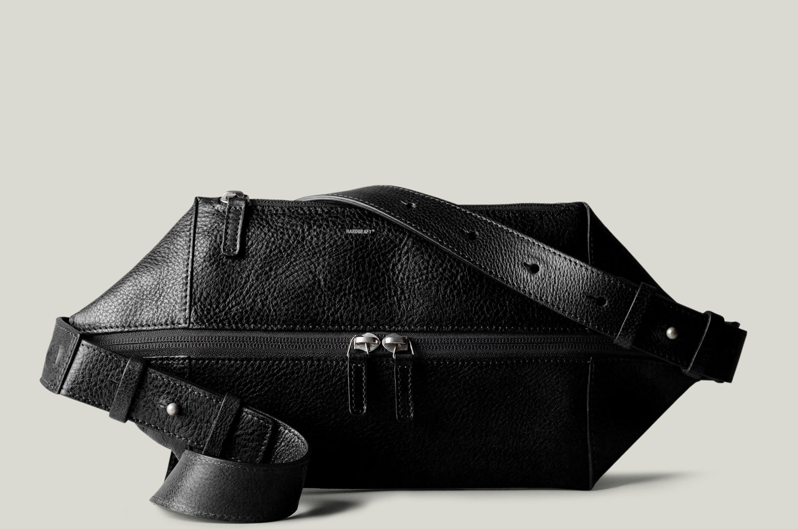 Black Leather Sling Bag and Valet Tray