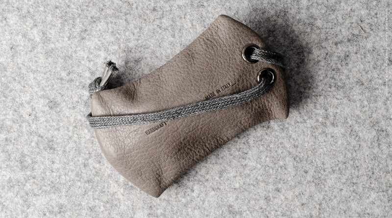 Zip Key Pouch . Off Grey