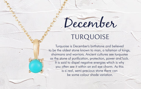 December Birthstone Necklace Turquoise