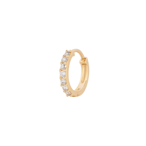 Diamond Huggie Hoop Earring 9k Gold