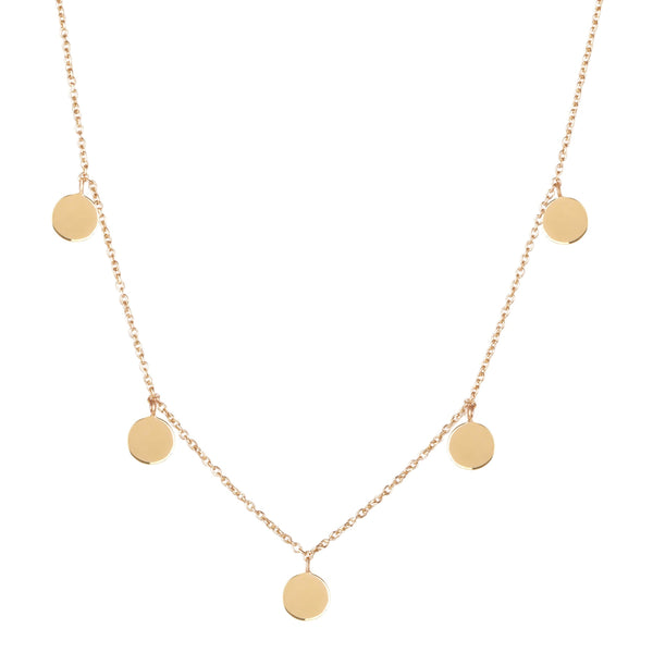 "15"" Coin Necklace 9k Gold"