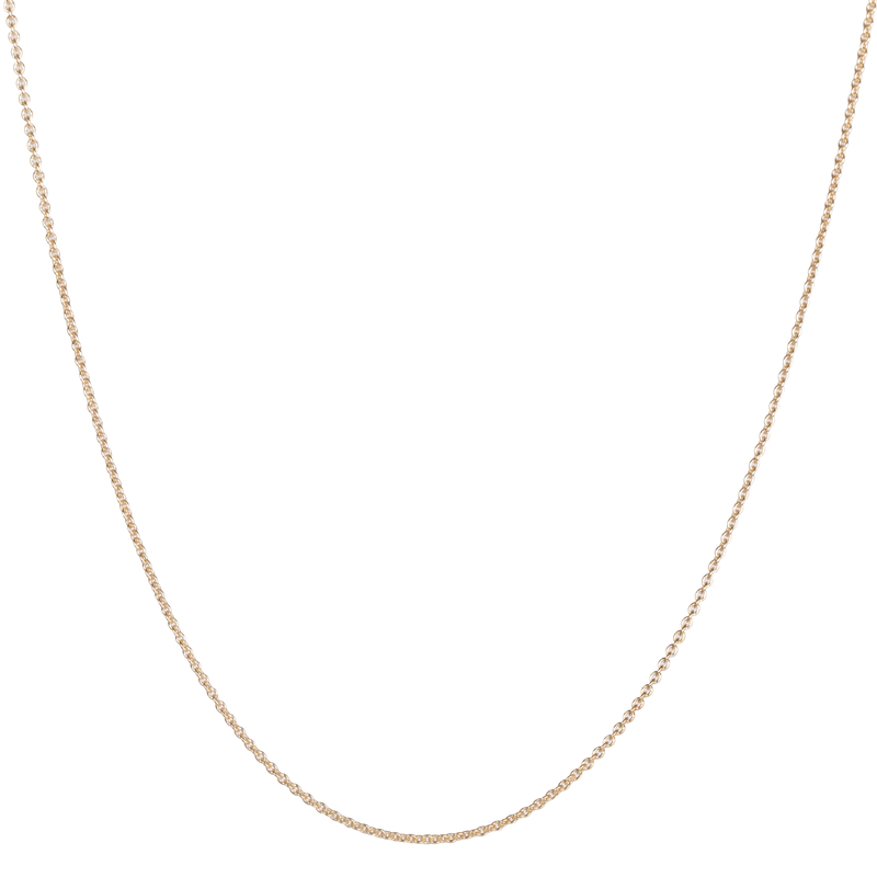 "22"" Cable Chain 9k Gold"