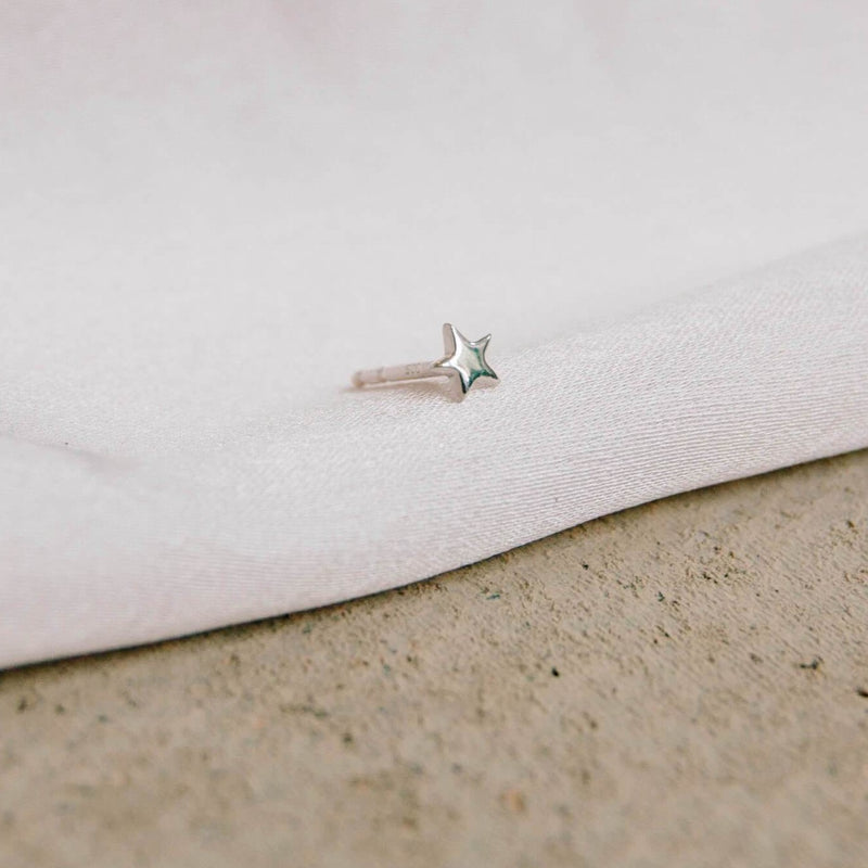 Star Stud Earring Sterling Silver