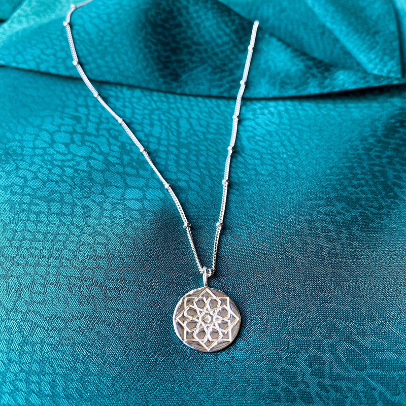 Zohreh Coin Pendant Sterling Silver
