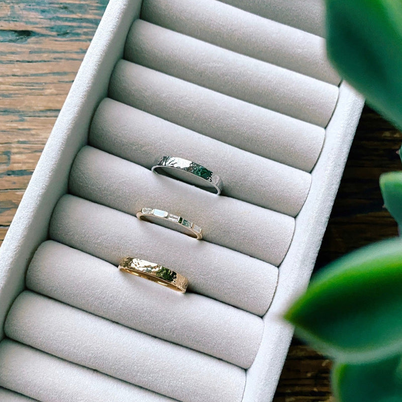 Diamond Baguette Ring 9k Gold